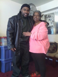 Taken shortly after my release with Cynthia Walker, mother of my codefendant, Corey Walker