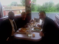 May 30, 2012, lunch with Jeffrey Deskovic and Nancy Lopez
