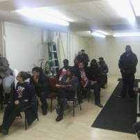 2012 While Plains Community Center, youth listening to me speaking