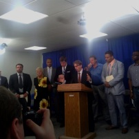 "May 30, 2012, ""Stop Wrongful Convictions, Now!"" press conference in Albany, New York."