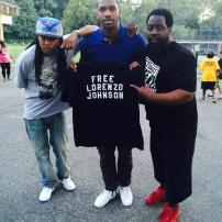 NBA Player Sean Kilpatrick (center) supporting my fight for freedom